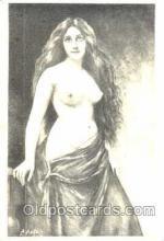 art000063 - Artist Asti, nude, Postcard Post Card
