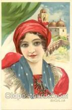art008007 - Artist M. Cheribini (Italy) Postcard Post Card