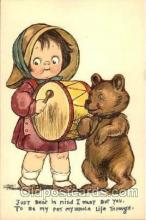 art014017 - Grace Drayton; Wiederseim Postcard; Bear; beating drum