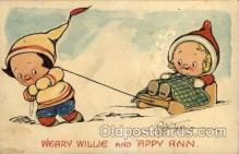 art014140 - Weary Willie  Artist Wiederseim / Drayton Postcard Post Card
