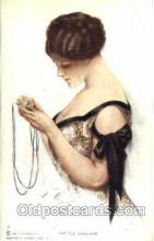 art021237 - Series 101, The Old Minature Artist Harrison Fisher Postcard Post Card