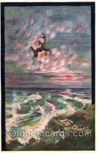 art071117 - Artist Signed Cobb Shinn or Tom Yad (United States) Postcard Post Card