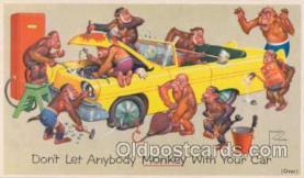 art089005 - Artist Signed Lawson Wood (Great Britain) Advertising Prestone Anti Freeze on back side, Postcard Post Card
