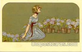 art090020 - Artist Signed Adelina Zandrino (Italy) Postcard Post Card