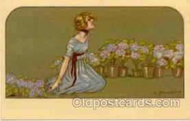 art090024 - Artist Signed Adelina Zandrino (Italy) Postcard Post Card
