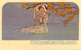 art090025 - Artist Signed Adelina Zandrino (Italy) Postcard Post Card