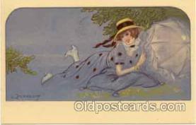 art090029 - Artist Signed Adelina Zandrino (Italy) Postcard Post Card