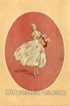 art090038 - Artist Signed Adelina Zandrino (Italy) Postcard Post Card