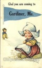 Gardiner ME, USA series 1050 Artist Twelvetrees, Postcard Post Card