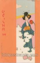 art096074 - Artist Signed Raphael Kirchner (AUS) Geisha Girl Postcard Post Card