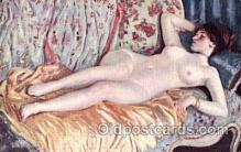 art100131 - Nude Postcard Post Card, Frieseke - A Woman Sleeping