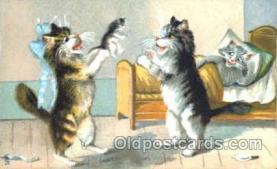 art175007 - Artist Maurice Boulanger (France) Comic Cat, Cats, Postcard, Post Card
