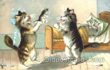 art175011 - Artist Maurice Boulanger (France) Comic Cat, Cats, Postcard, Post Card