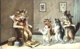 art175014 - Artist Maurice Boulanger (France) Comic Cat, Cats, Postcard, Post Card