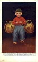 art199007 - series 87-1947 Artist Wall, Postcard Post Card