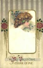 art201006 - Artist Signed Schmucker, Silk Valentine postcard Post Card