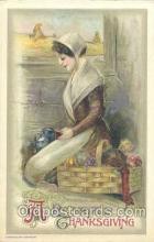 art201102 - Artist Schmucker Thanksgiving Greeting Postcard Post Card