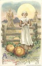art201108 - Artist Schmucker Thanksgiving Greeting Postcard Post Card