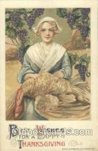 art201109 - Artist Schmucker Thanksgiving Greeting Postcard Post Card