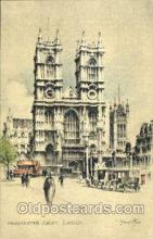 art202003 - Westminster Abbey, LondonArtist Joseph Pike, Postcard Post Card