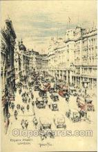 art202004 - Regent Street, London, Artist Joseph Pike, Postcard Post Card