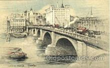 art202008 - London Bridge, Artist Joseph Pike, Postcard Post Card