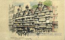 art202017 - Staple Inn - Holborn London, Artist Joseph Pike,  Postcard Post Card