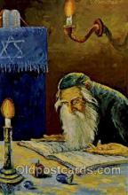 art203004 - Artist Morris Katz, Judaic, Judaica, Postcard Post Card