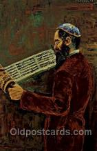 art203011 - Artist Morris Katz, Judaic, Judaica, Postcard Post Card