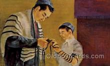 art203052 - Artist Signed Morris Katz Judaic, Judaica, Postcard Post Card