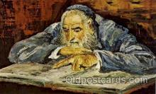 art203054 - Artist Signed Morris Katz Judaic, Judaica, Postcard Post Card