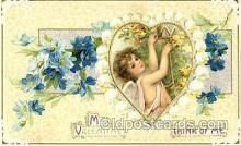 art210001 - Artist Frances Brundage, Valentine Postcard Post Card