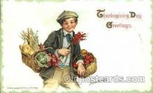 art210004 - Artist Frances Brundage, Thanksgiving Postcard Post Card