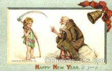 art210005 - Artist Frances Brundage, Happy New Year, Postcard Post Card