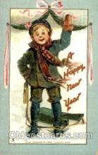 art210009 - Artist Frances Brundage, A Happy New Year,  Postcard Post Card