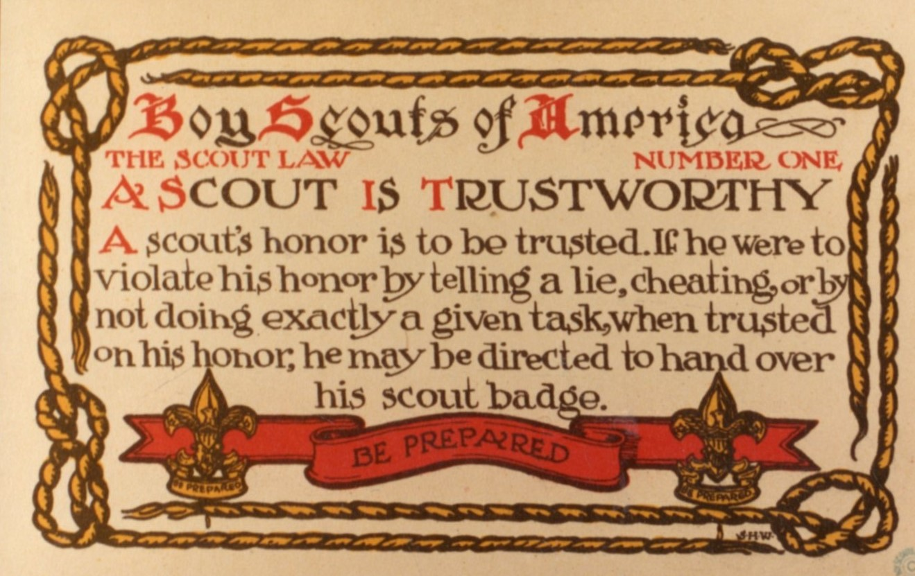 Boy Scout of America Postcard Example