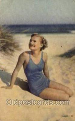 bea001220 - Bathing Beauty Old Vintage Antique Postcard Post Card
