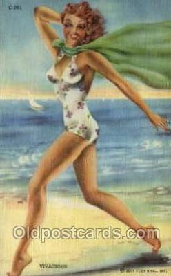 bea001222 - Bathing Beauty Old Vintage Antique Postcard Post Card