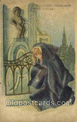 bel001010 - That is too bad Belgium Statue Old Vintage Antique Post Card Postcard