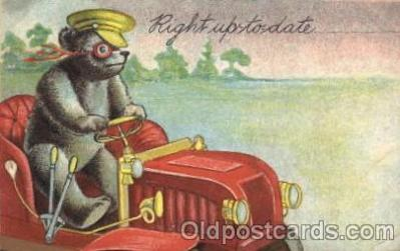 ber001093 - Driving Bear, Bears, Postcard Post Card