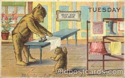 ber001106 - Tuesday, Bears, Postcard Post Card