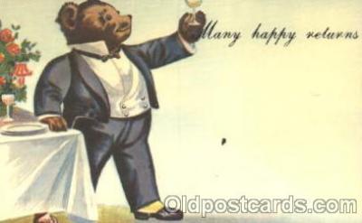 ber001114 - Reproduction Bear cheer Bear, Bears, Postcard Post Card