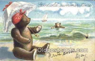 ber001550 - Bear Postcard Bear Post Card Old Vintage Antique