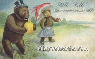 ber001843 - Well! Well! You Never Can Tell Ottoman Lithographing Bears, Co. NY, Bear Postcard Bears, tragen postkarten, sopportare cartoline, soportar tarjetas postales, suportar cartões postais