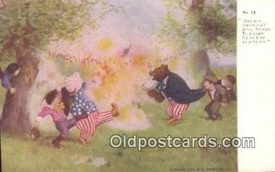 ber001894 - No 18 Third Series, They put Crackers all along the wire E. Stern & Co. Inc., Bear Postcard Bears, tragen postkarten, sopportare cartoline, soportar tarjetas postales, suportar cartões postais