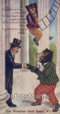 ber002042 - Cracker Jack Bears No. 7 B.E. Moreland, Rueckheim & Eckstein, Bear Postcard Bears, tragen postkarten, sopportare cartoline, soportar tarjetas postales, suportar cartões postais