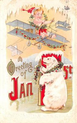 ber007001 - Bear Post Card Old Vintage Antique