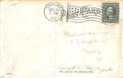 ber007001 - Bear Post Card Old Vintage Antique  back