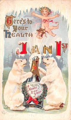 ber007003 - Bear Post Card Old Vintage Antique