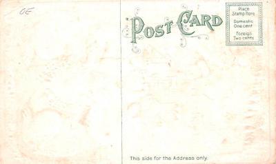 ber007003 - Bear Post Card Old Vintage Antique  back